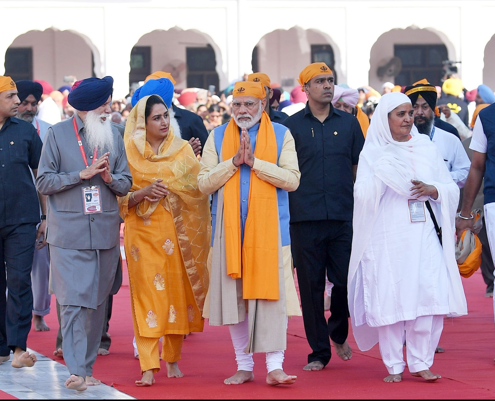 The Prime Minister, Shri Narendra Modi at the Gurudwara Ber Sahib, in Sultanpur Lodhi, Punjab on November 09, 2019.