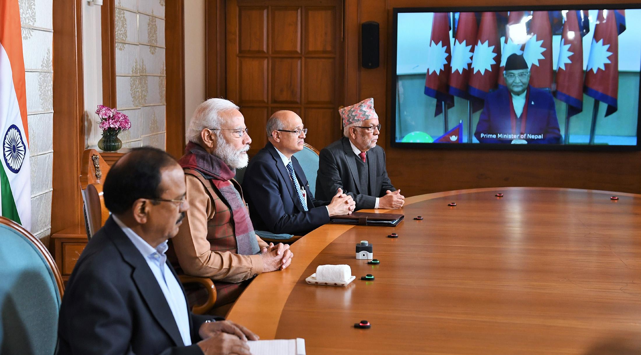 PM and PM of Nepal K P Sharma Oli jointly Inaugurate Integrated Check Post at Jogbani-Biratnagar