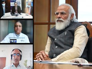 PM interacts with three teams working on developing & manufacturing COVID-19 vaccine