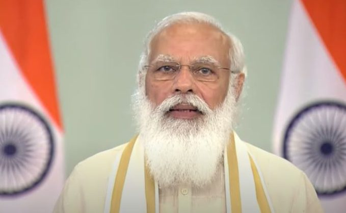 The Prime Minister, Shri Narendra Modi inaugurates and dedicates to the nation multiple projects in Gujarat through video conferencing, in New Delhi on July 16, 2021.