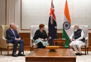 Australian Minister for Foreign Affairs and Women, Her Excellency Marise Payne, and Minister for Defence, His Excellency Peter Dutton call on PM