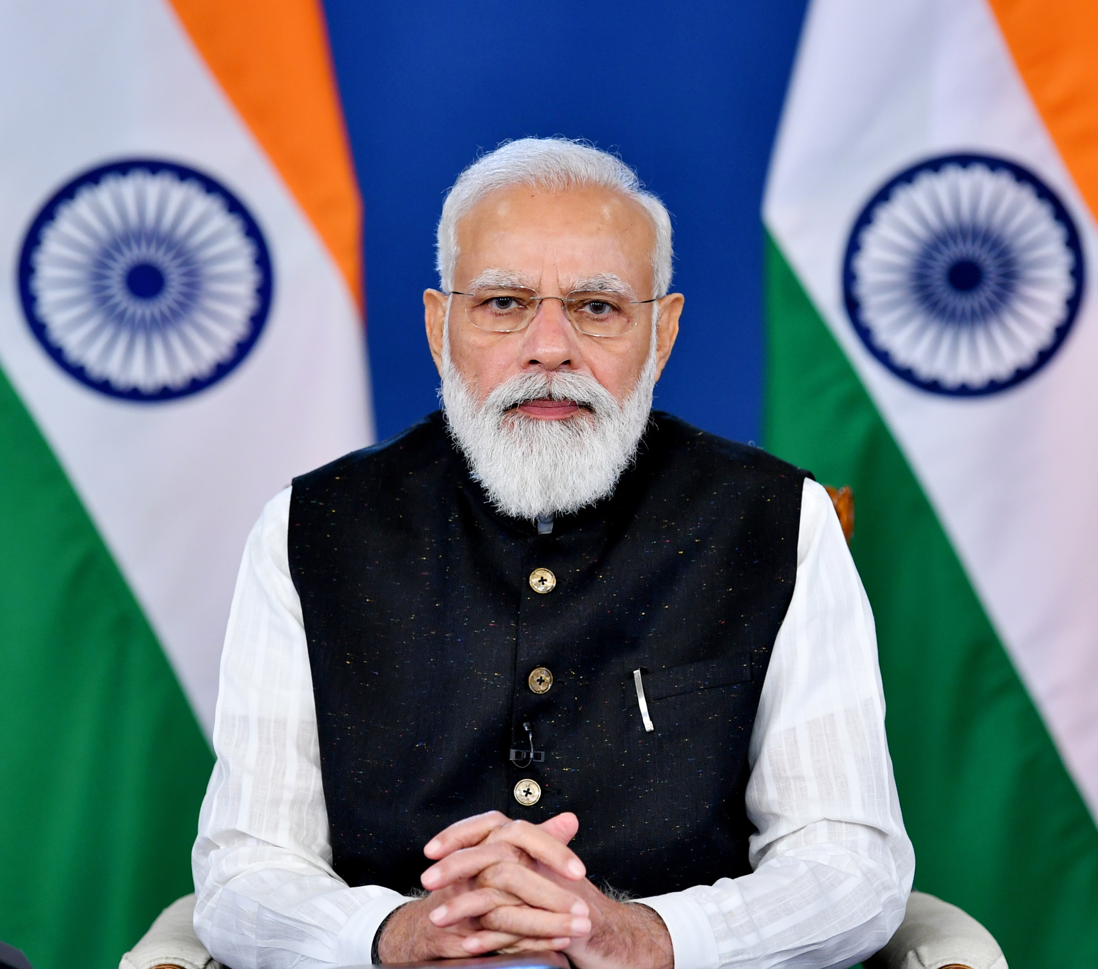 The Prime Minister, Shri Narendra Modi virtually participates in the G20 Extraordinary Summit on Afghanistan, in New Delhi on October 12, 2021.