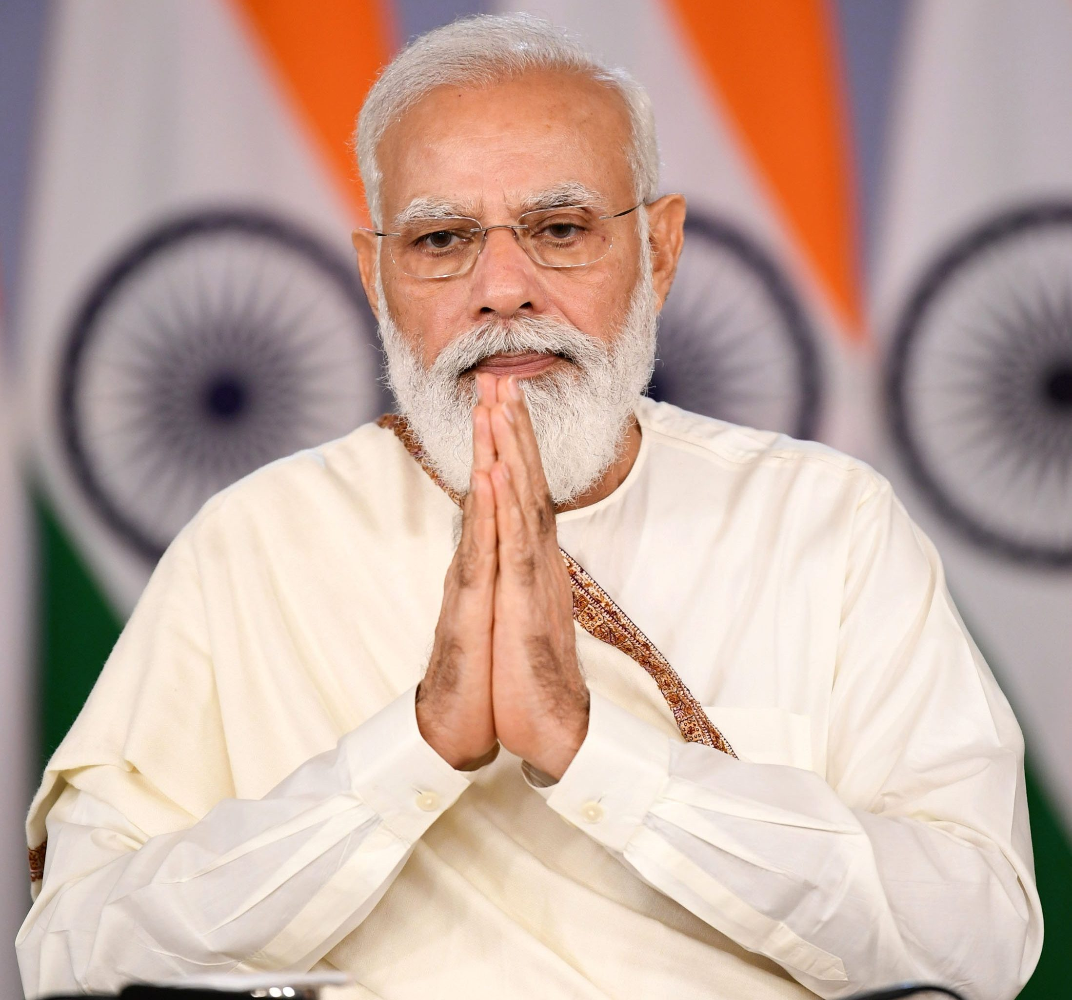 The Prime Minister, Shri Narendra Modi at the inauguration of Infosys Foundation Vishram Sadan at National Cancer Institute, Jhajjar, through video conferencing, in New Delhi on October 21, 2021.